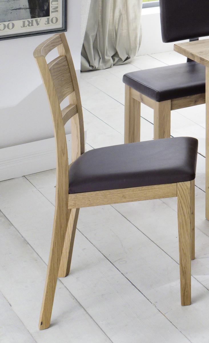 Stuhl Set Stühle Sitz Polstersitz Esszimmerstuhl Eiche Massiv Geölt 1 ...