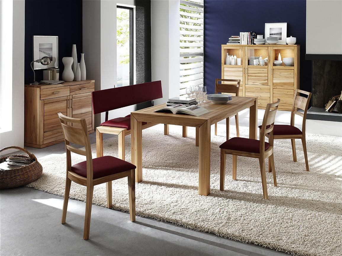 esszimmer essgruppe vitrine kommode kompletteinrichtung kernbuche massiv ge lt kaufen bei saku. Black Bedroom Furniture Sets. Home Design Ideas