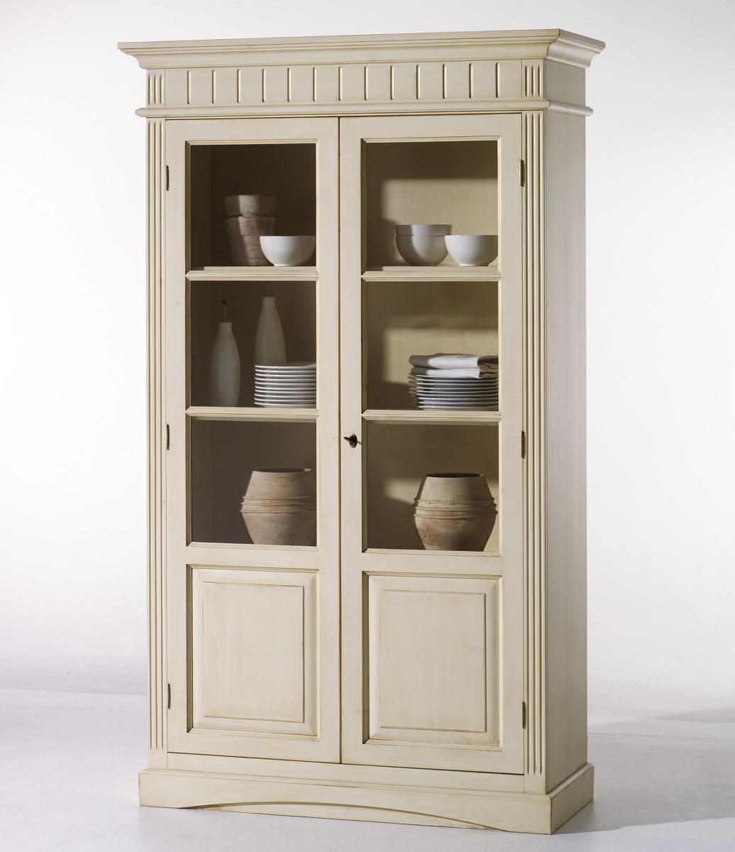vitrine vitrinenschrank fichte massiv klassisch elegant. Black Bedroom Furniture Sets. Home Design Ideas