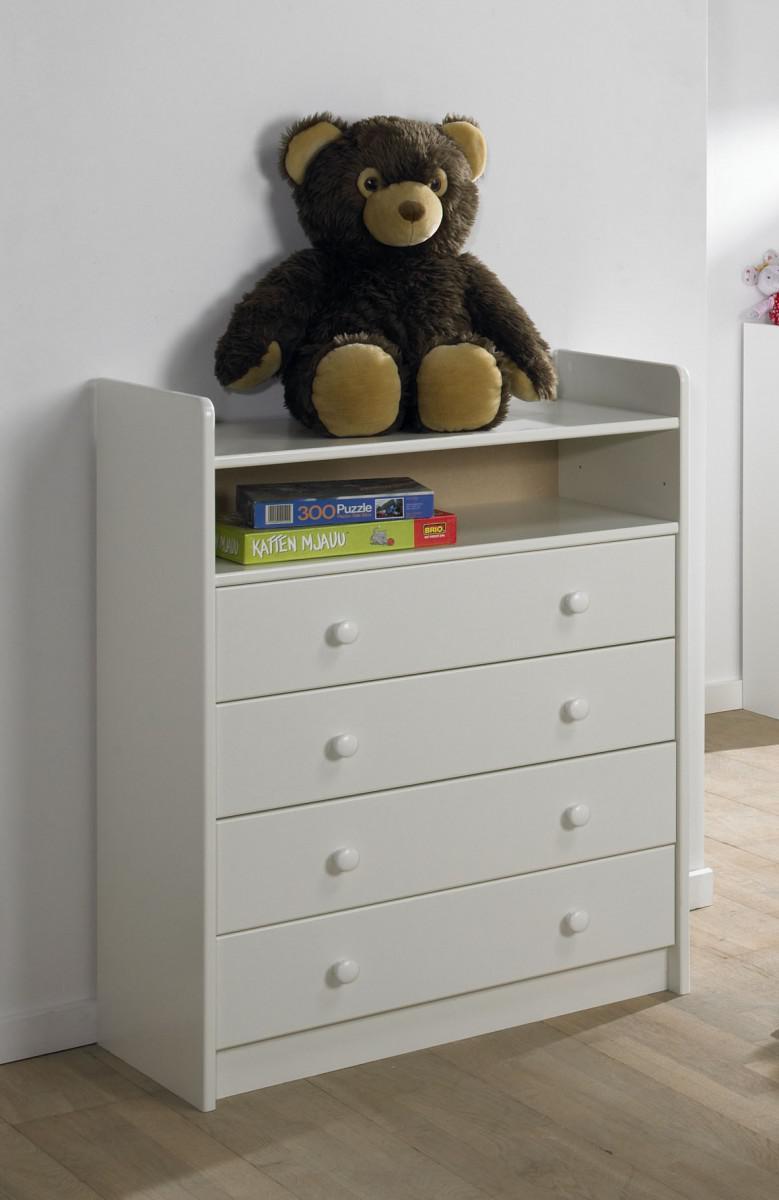 kommode schubladenkommode mdf wei lackiert babyzimmer kinderzimmer 4 schubladen kaufen bei. Black Bedroom Furniture Sets. Home Design Ideas