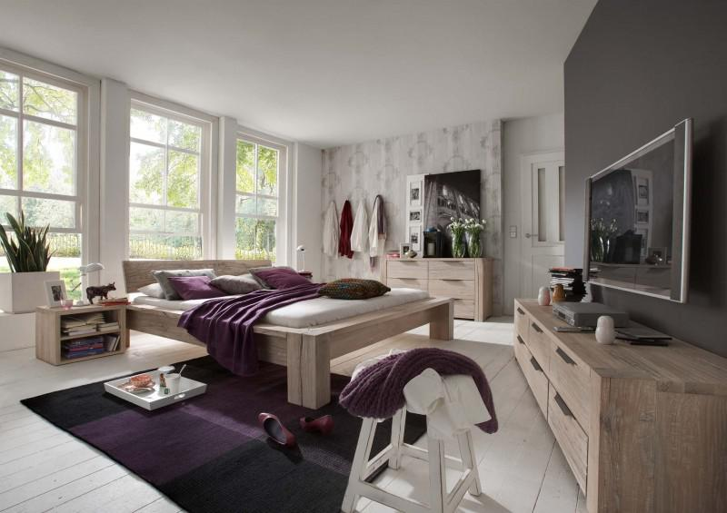 schlafzimmer kompletteinrichtung bett kommoden eiche. Black Bedroom Furniture Sets. Home Design Ideas