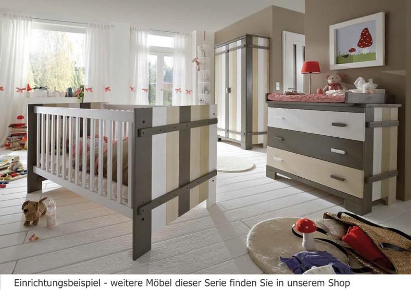 Kinderzimmer Babyzimmer Kleiderschrank 2 Turig Kommode Babybett