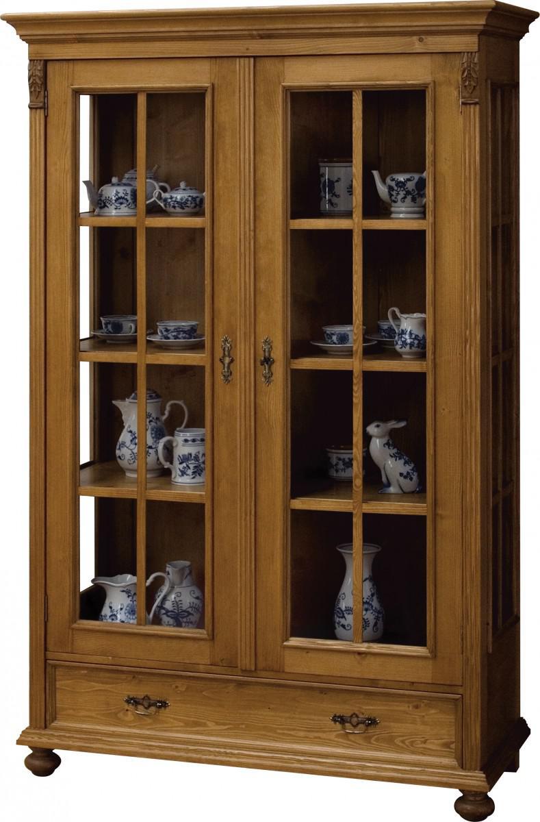 vitrine vitrinenschrank esszimmer schrank fichte massiv antik landhaus 1880 kaufen bei saku. Black Bedroom Furniture Sets. Home Design Ideas
