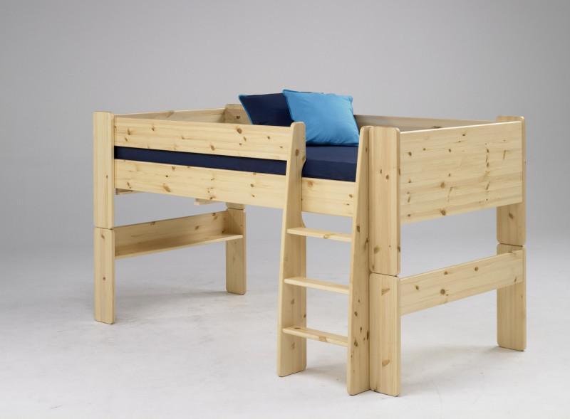 Etagenbett Mit Schreibtisch Und Kommode : Halbhochbett hochbett schreibtisch kinderbett etagenbett bett in