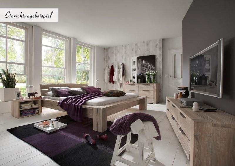 kommode sideboard balkeneiche eiche massiv white wash. Black Bedroom Furniture Sets. Home Design Ideas