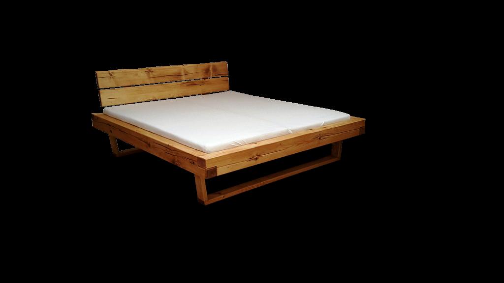 Bett Doppelbett Balkenbett Holzbett massiv Schlafzimmer Balken ...