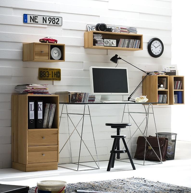 Arbeitszimmer Büromöbel Aufbewahrung System Zubehör Kernbuche massiv ...