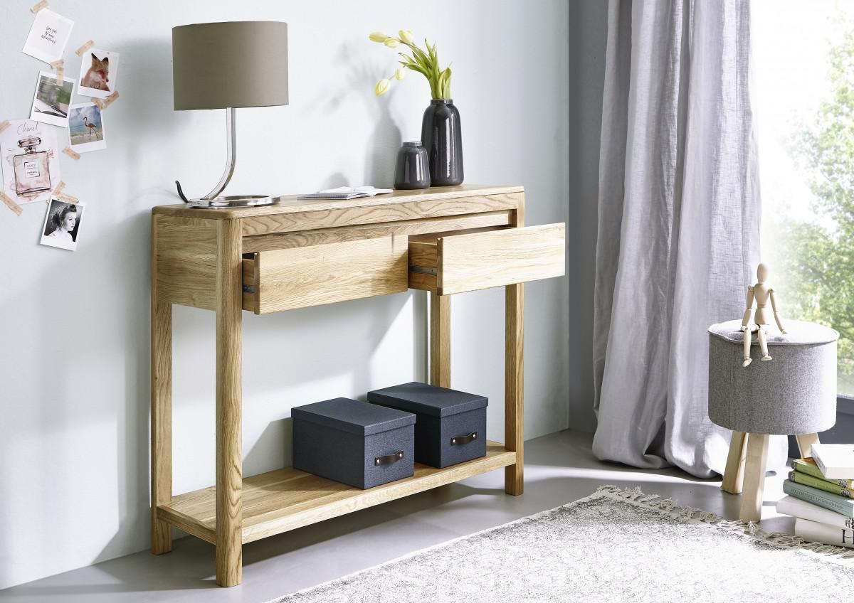 beistelltisch wandtisch konsolentisch vollmassiv montiert wildeiche ge lt tisch kaufen bei. Black Bedroom Furniture Sets. Home Design Ideas