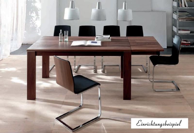 Esstisch Tisch Esszimmertisch Zargenauszug Auszug Esszimmer Nussbaum