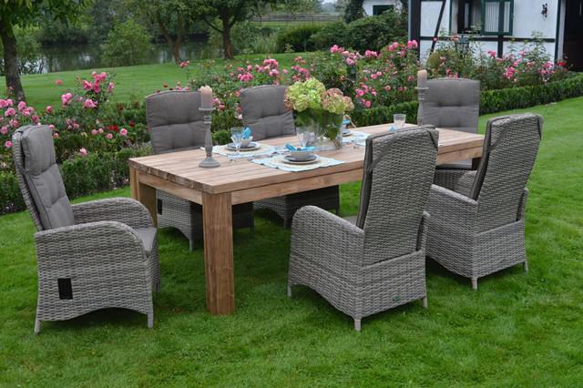 Gartengruppe Gartenmobel Outdoor Garten Set 7 Teilig Teakholz