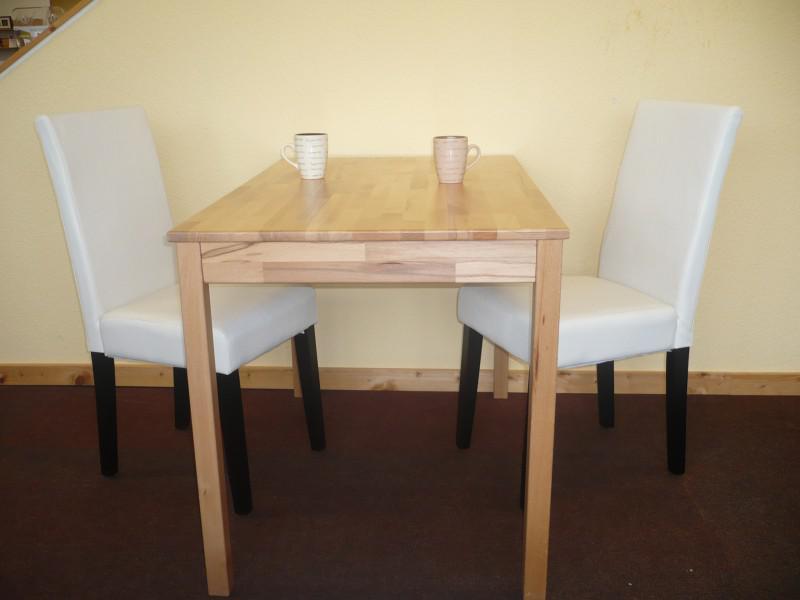 tischgruppe esszimmergruppe sitzgruppe 3 tlg tisch 50x70 cm stuhl creme braun kaufen bei saku. Black Bedroom Furniture Sets. Home Design Ideas