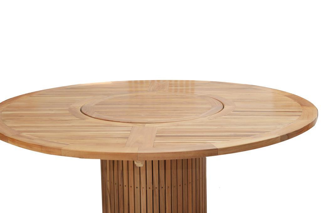 gartentisch tisch rund 160 cm garten dining tisch esstisch drehteller teak fsc kaufen bei saku. Black Bedroom Furniture Sets. Home Design Ideas