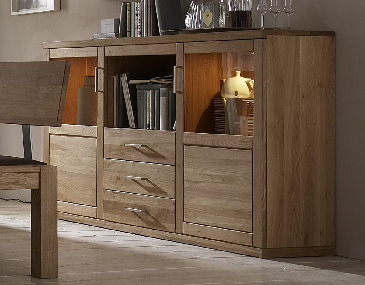 sideboard anrichte vitrine wildeiche massiv ge lt naturbelassen kaufen bei saku system. Black Bedroom Furniture Sets. Home Design Ideas