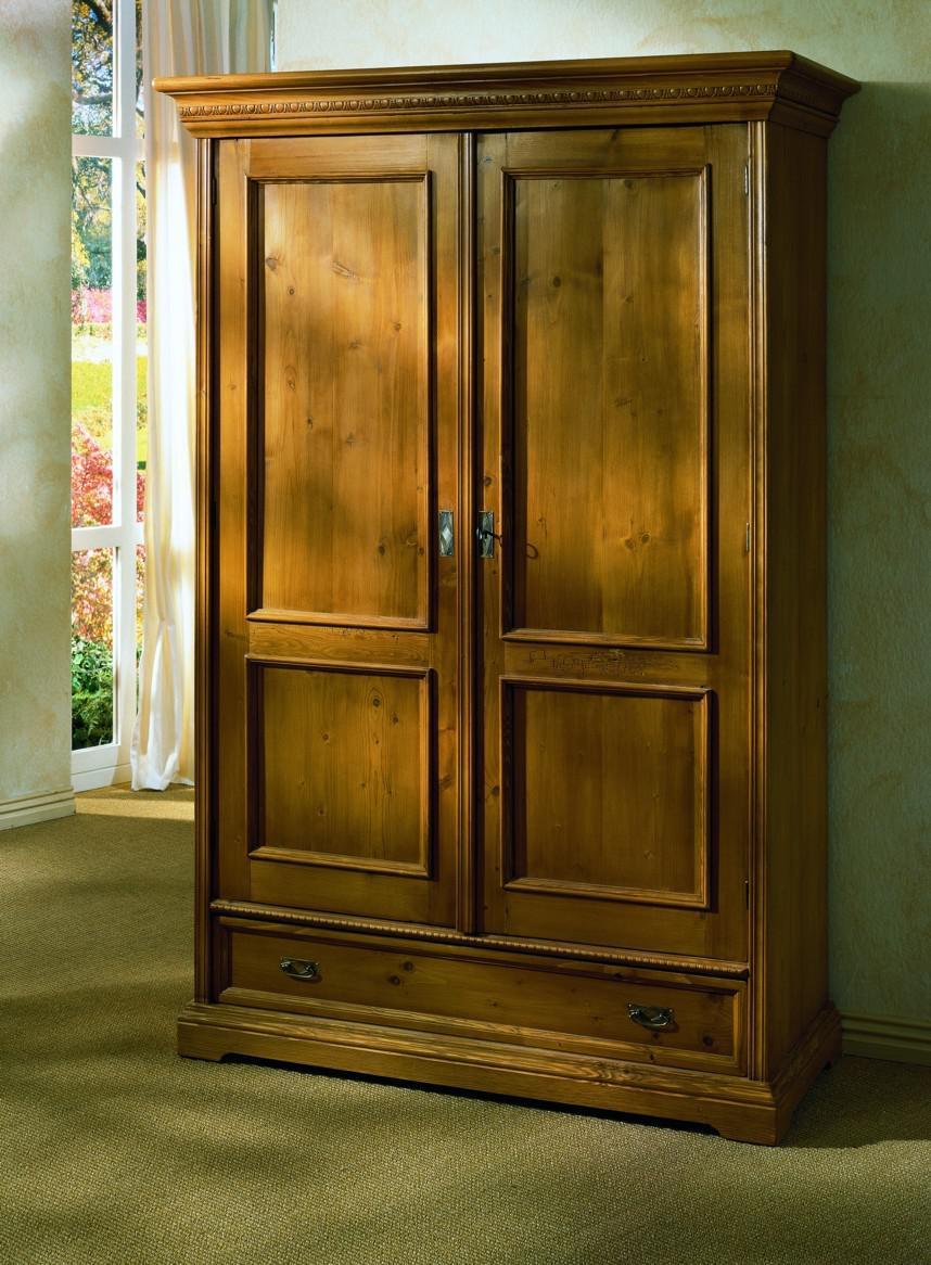 schrank kleiderschrank 2 t rig schlafzimmerschrank fichte massiv antik gewachst kaufen bei. Black Bedroom Furniture Sets. Home Design Ideas