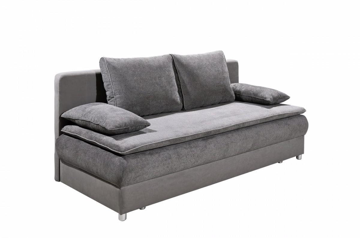 schlafsofa sofa couch mit schlaffunktion bettsofa bettfunktion stoff grau kaufen bei saku. Black Bedroom Furniture Sets. Home Design Ideas