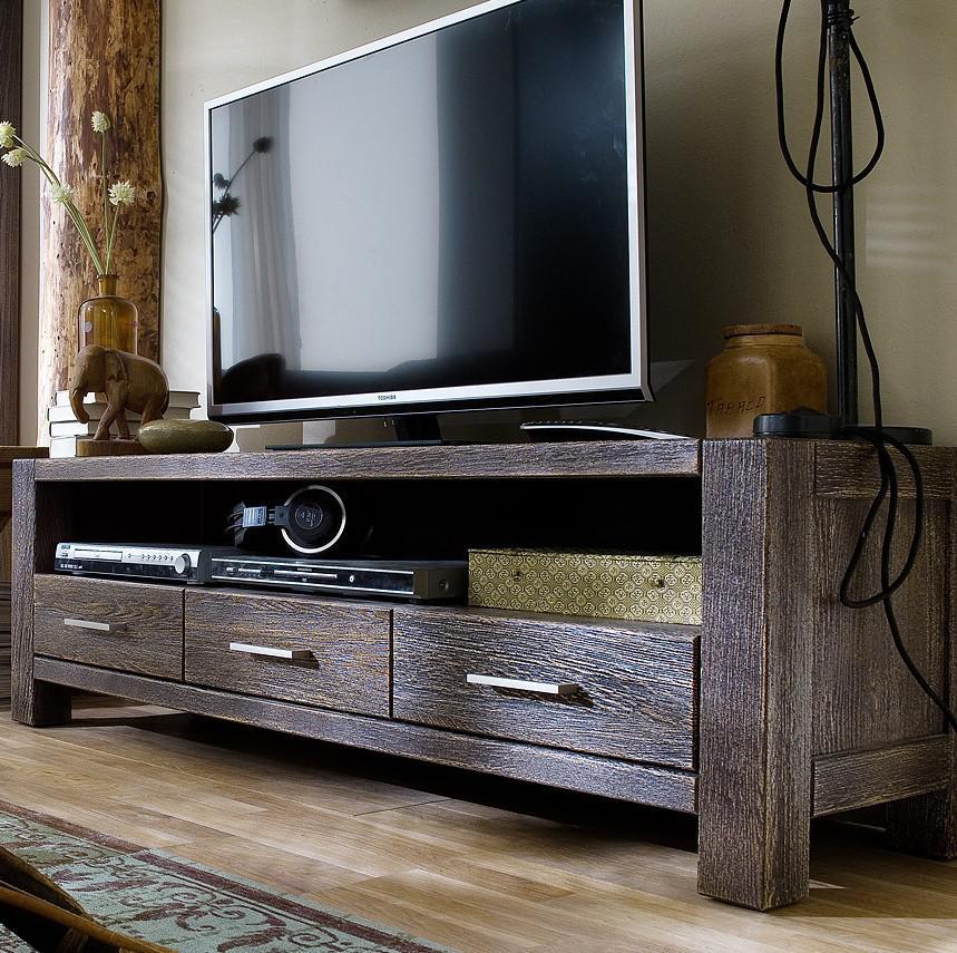 tv board anrichte lowboard eiche massiv sandgestrahlt. Black Bedroom Furniture Sets. Home Design Ideas