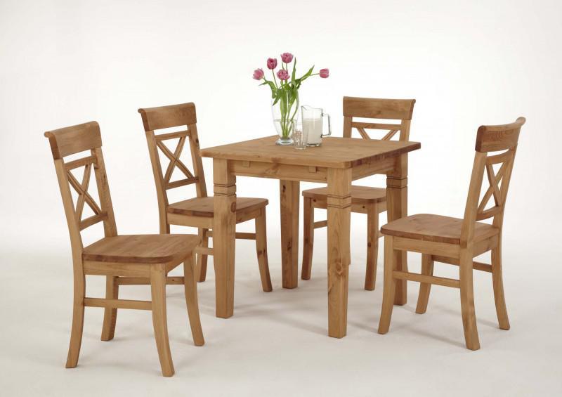 Tischgruppe Stühle Esstisch Kiefer Massiv Laugenfarbig Landhaus