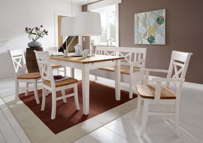 Tischgruppe Esszimmergruppe Bank Tisch Stühle Esszimmer Kiefer Massiv  Landhaus 1 ...