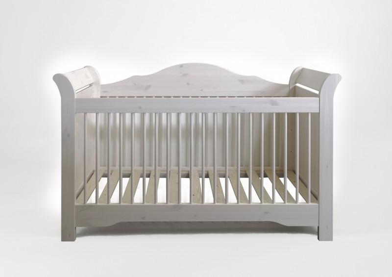 babybett gitterbett kinderbett kiefer massiv wei romantisch s baby bett kaufen bei saku. Black Bedroom Furniture Sets. Home Design Ideas