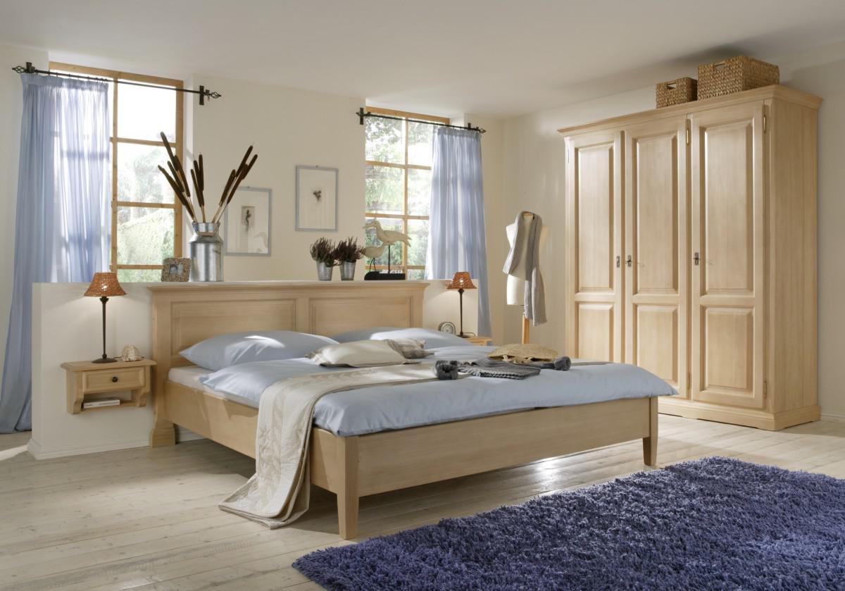 Schlafzimmer Komplett Schrank Bett Nachtkommoden Fichte massiv ...