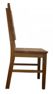 kleine Tischgruppe Tisch + 2 Stühle Eiche massiv geölt Massivholz 80 x 80 cm - Vorschau 4