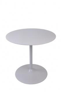 Bistrotisch rund Durchmesser 80 cm Weiß