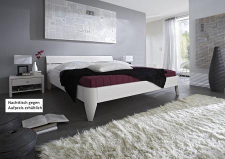Bett Ehebett Kiefer massiv weiß lackiert Überlänge zahlreiche Kombinationen