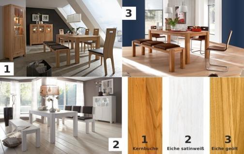 Anrichte Sideboard Highboard Kommode Wohnzimmer Flur Eiche massiv geölt natur - Vorschau 2