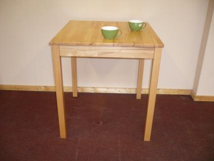 Esstisch Esszimmertisch Küchentisch Tisch 70x70 cm Kernbuche massiv geölt