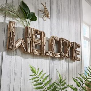 "Drift Wanddekoration "" Welcome"" recyeltes Holz Natur"