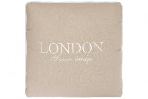 Kissen London Tower Bridge Baumwolle Creme