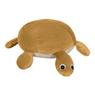 Sitzhocker Sitzkissen Schildkröte Kissen groß XXL Kinderzimmer samtig weich bunt