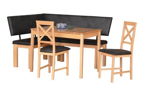 Eckbank Eckbankgruppe Stuttgart Tisch + Bank + Stühle Buche Anthrazit