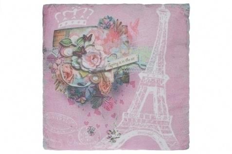 Kissen Spring in Paris Baumwolle&Polyester Bunt