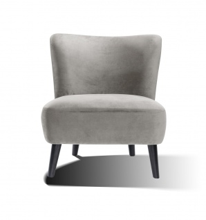 Sessel Holz und Polyester Grau