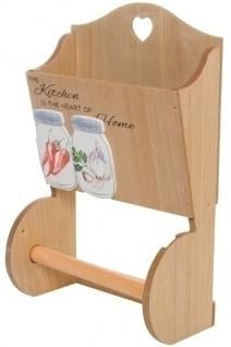 Küchenrollenhalter Struppi mit Ablage MDF Holz