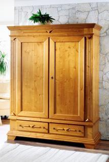 Schrank Kleiderschrank Schlafzimmer Fichte massiv Landhausstil antik lackiert