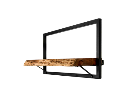 Wandboard Levels Live Edge Akazie Eisen 56x32