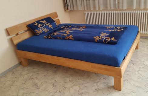 Bett Einzelbett Udo Buche massiv Natur 140x200 cm