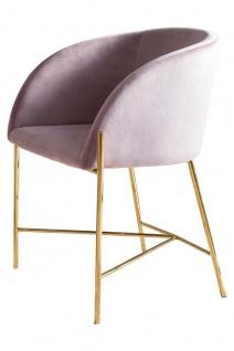 Stuhl Metall und Polyester Rosa