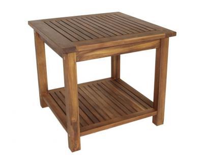 Beistelltisch Gartentisch Holztisch 50x50 cm Gartenmöbel Holz Akazie