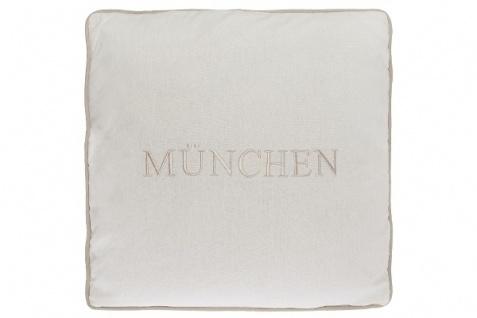 Kissen München Baumwolle Weiß