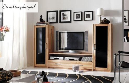 wohnwand wohnregal tv wand hifi lowboard kernbuche massiv ge lt wohnzimmer kaufen bei saku. Black Bedroom Furniture Sets. Home Design Ideas