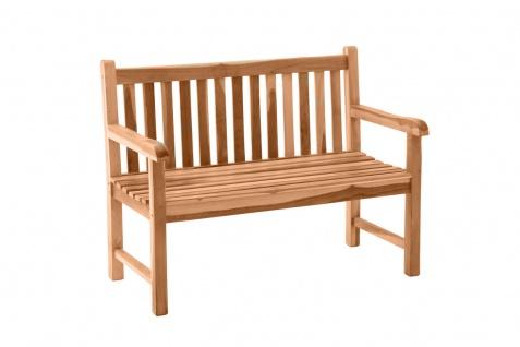 Gartenbank Sitzbank mit Rückenlehne 2-Sitzer Teak