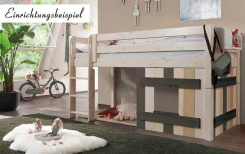 Bett Abenteuerbett Kinderbett Jugendbett halbhoch Kinderzimmer Kiefer massiv