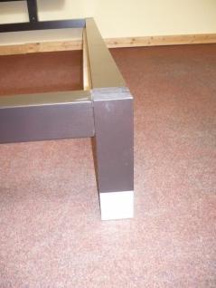 Futonbett Bett Einzelbett 160x200 mit Rosten und Matratze Komplettset schwarz - Vorschau 5