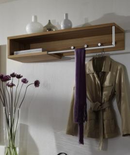 hutablage garderobenablage garderobe kernbuche massiv gewachst kleiderstange kaufen bei saku. Black Bedroom Furniture Sets. Home Design Ideas