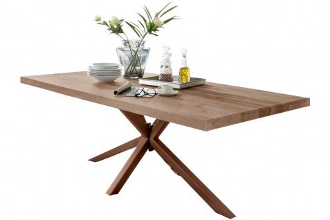 TISCHE & BÄNKE Tisch 240x100 Balkeneiche Natur Braun