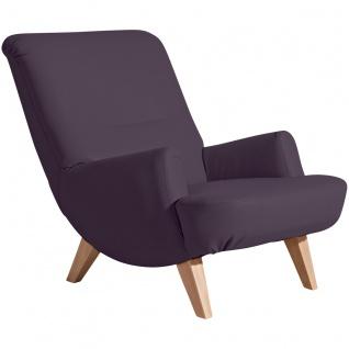 Brandford Sessel Polyurethan Violett Buche Natur