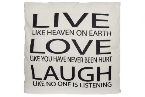Kissen Live like Heaven Baumwolle&Polyester Weiß